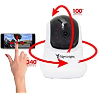 Synknight PTZ Camera Pan/Tilt/Zoom Wireless IP Security Surveillance System720p HD Night Vision MicroSD & More