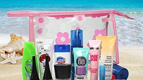 Reisen Wasserdicht Dusche Tragetasche Tragbarer kosmetischer Beutel, Rosa