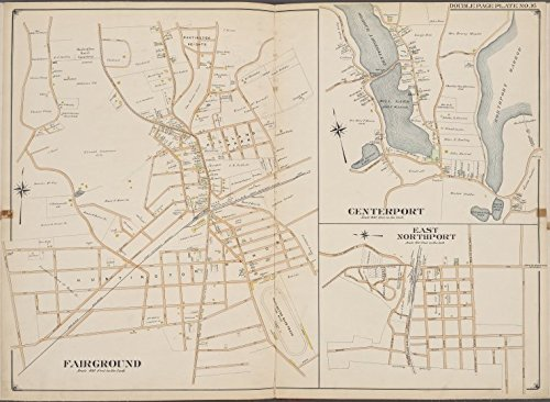 Historic 1902 Map | Suffolk County, V. 2, Double Page Plate No. 16 [Map bounded by Center Port, East North Port, Fair Ground] | Suffolk County (N.Y.)Atlases of the United - Fair North County Map