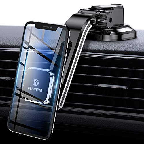 Dashboard Magnetic Phone Car Mount-FLOVEME Adjustable Arm Magnet Car Phone Mount...