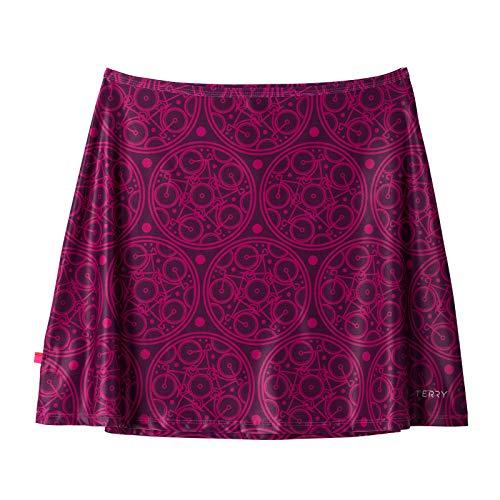 Terry Stretch Mini Cycling Athletic Sport Skirt Quick Dry Cycling Coverup - Mandala - Medium