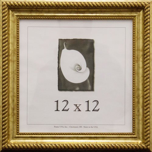 (12x12 Antique Wood Picture Frame (Gold))
