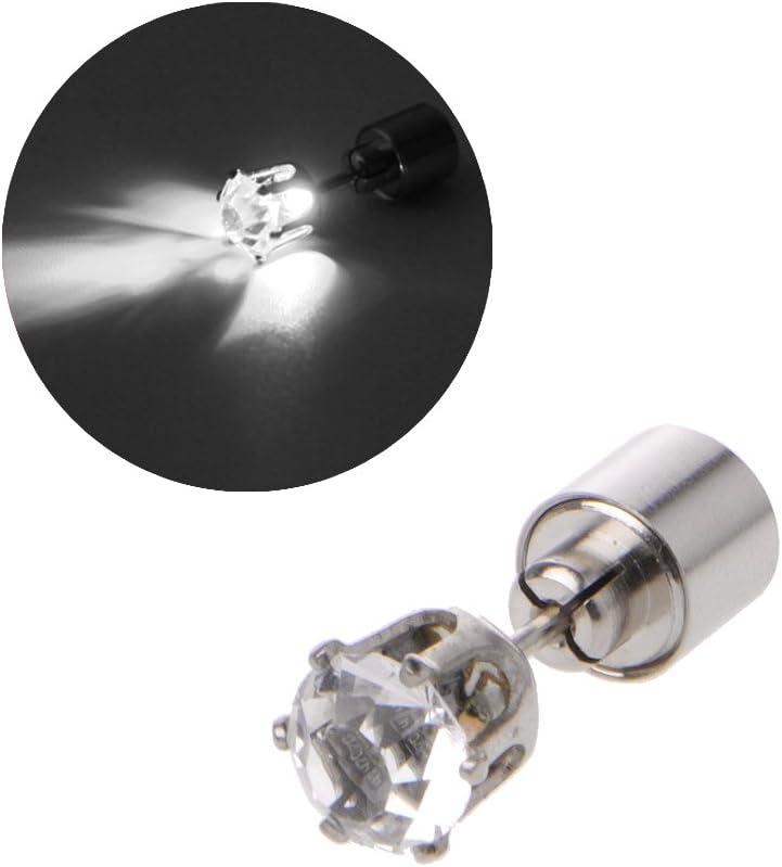 qingqingR Diamante Brillante LED Cambio de Color Pendiente del Perno Prisionero Iluminado Intermitente Pendiente Intermitente