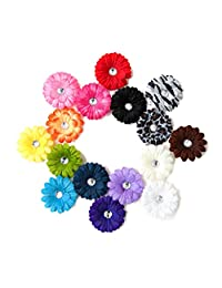 Ema Jane - Small Gerber Daisy Hair Clip Bows (Headbands Not Included) (15 Pack)