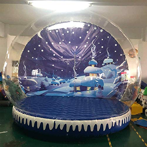 JYNselling 2M 3M Christmas Decor Airblown Inflatable Snow Globe Transparent Bubble with Blower (3m Type B)