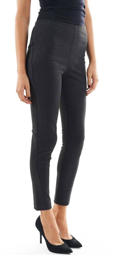 Joseph Ribkoff Charcoal Grey Elastic Waist Mid-Rise Pants Style 154732 - Size 10 by Joseph Ribkoff