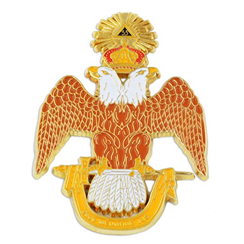 (33rd Degree Double Headed Eagle Scottish Rite Masonic Auto Emblem - 3