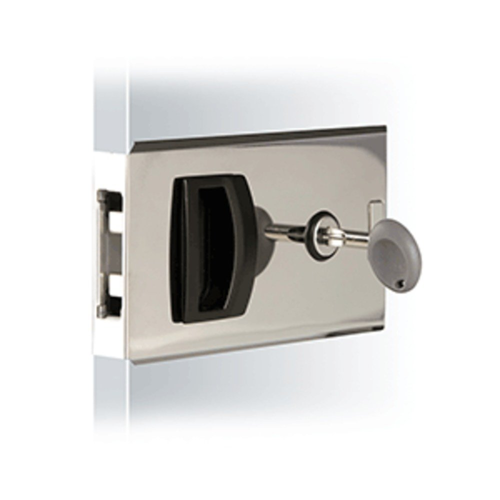 Southco Flush Sliding Door Latch - Square - Aluminum