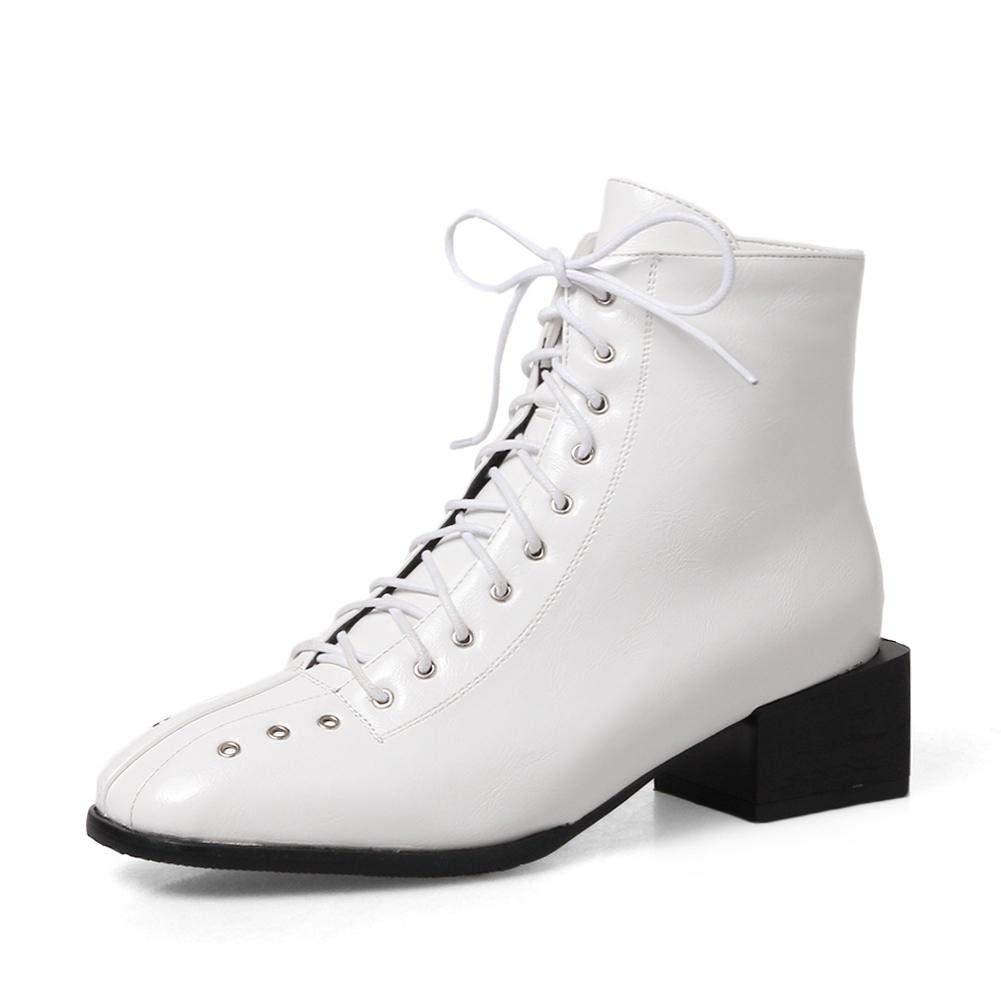 HOESCZS 2018 große 34-43 schnürsenkel schwarz weiß Martin Stiefel Stiefel Stiefel Frau Schuhe Mode heißer Stiefeletten weibliche Schuhe Frau, B07PBTHQLS Sport- & Outdoorschuhe Hohe Qualität und geringer Aufwand fa2be3