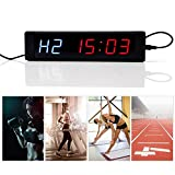 Specific Gym Alternate Training Timer, LED Display Programmable Interval Timer Fitness Office Kitchen