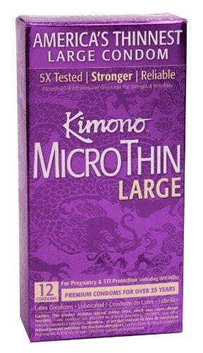 Mayer Laboratories Kimono Condom Micro Large 12 Ct (Kimono Condoms 12pk)