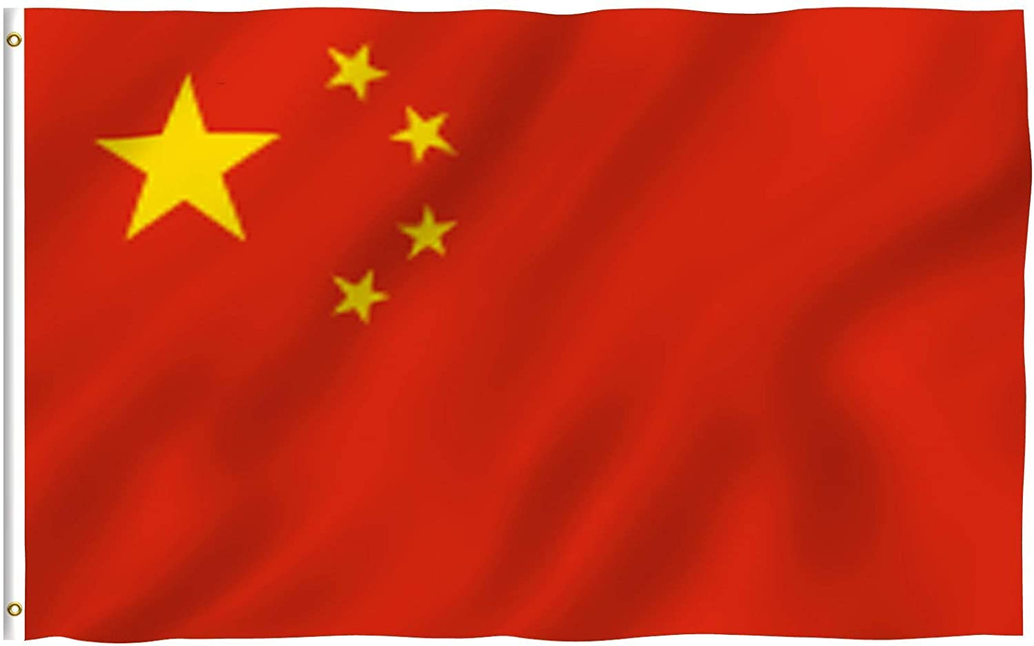 Anley Fly Breeze 3x5 Foot China Flag - Vivid Color and Fade Proof - Canvas Header and Double Stitched - Chinese National Flags Polyester with Brass Grommets 3 X 5 Ft