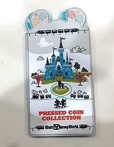 Disney World Theme Park Logo Pressed Penny Quarter Coin Book Album