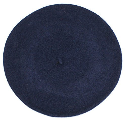 Ted and Jack - Elegant Solid Classic Beret in Navy Blue - Beret Navy Blue