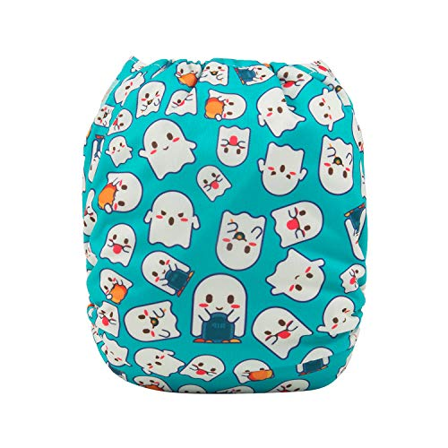 ALVABABY Baby Cloth Diaper New Product Design for Halloween Reuseable Washable Pocket Cloth Diaper Nappy with 2 Inserts (Q37)