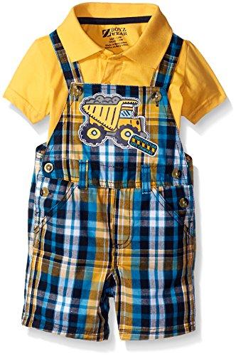 Boyzwear Baby Boys 2 Piece Shortall Set with Polo