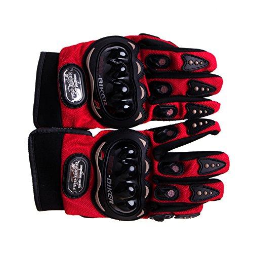 ULKEME New Motorbike Motocross Summer Fiber Bike Racing Gloves Pro-Biker Motorcycle (XL, red)