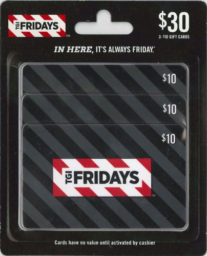 (T.G.I. Friday's Gift Cards, Multipack of 3 - $10 )