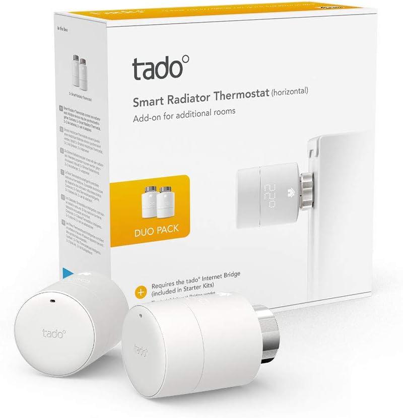 Zusatzprodukte f/ür Einzelraumsteuerung + Heizk/örper-Thermostat Duo Pack Tado Smartes Heizk/örper-Thermostat Starter Kit V3+ Intelligente Heizungssteuerung