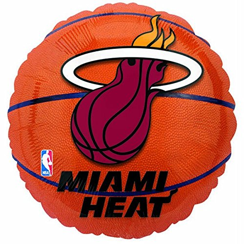 Anagram International Miami Heat Flat Party Balloons, 18