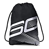 Under Armour Unisex SC30 Sackpack, Black (001)/White, One Size