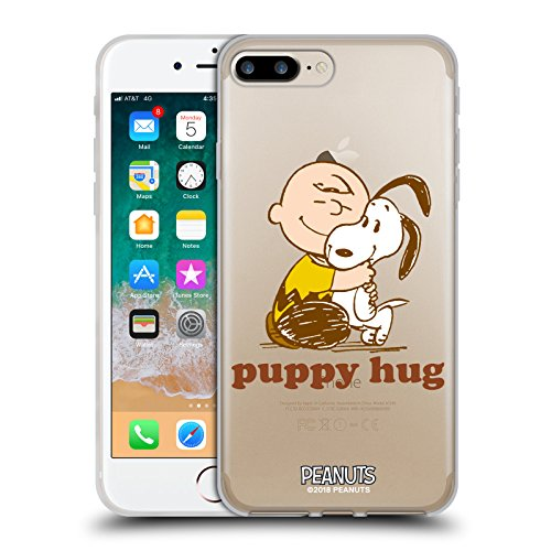 - Official Peanuts Charlie Puppy Hug Snoopy Hug Soft Gel Case for iPhone 7 Plus/iPhone 8 Plus