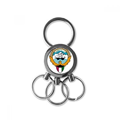 Amazon com: Kuwait Africa National Emblem Metal Key Chain