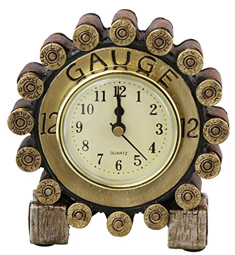 Small Shotgun Desk Shelf Mantel Clock - Shot Shell