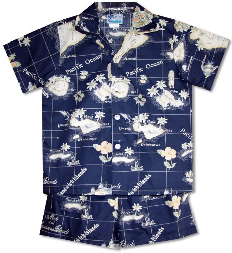 RJC Boys Hawaiian Island Paradise 2pc Set in Navy Blue - 18 Months by RJC