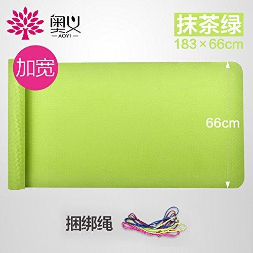 Matcha vert 66 single-cravater 6 8Mm( Beginner) YOOMAT Inodore Yoga Mat épais Slip-Mat Non étendue Plus et Plus de Sports et Yoga Débutant Mat170451