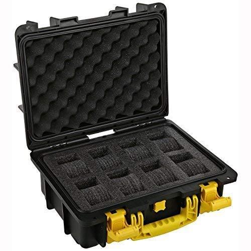 Invicta DC8BLK/YEL Eight Slot Collector Box, Yellow / Black