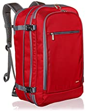 AmazonBasics Carry-On Travel Backpack, Red