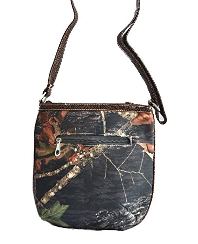 messenger rhinestone Brown mossy oak purse canvas cross camo n7EF8wXqE
