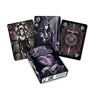 USPC-Unisexs-Bicycle-Anne-Stokes-Dark-Hearts-Playing-Cards-Deck-Multiple-Poker