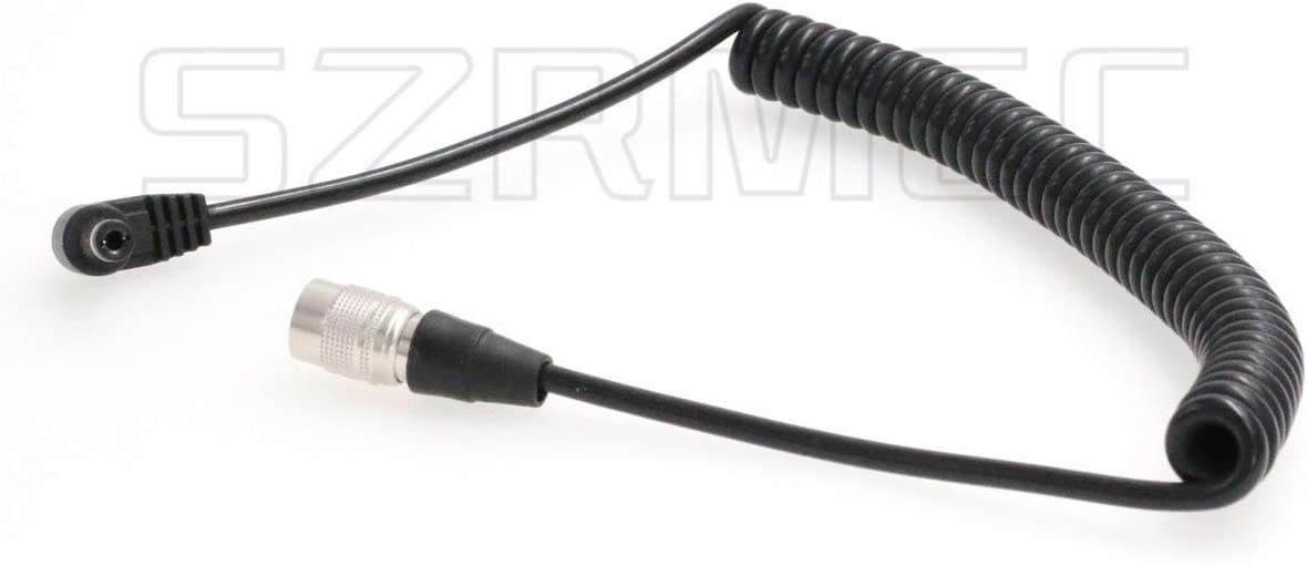 SZRMCC DC 5.5X 2.5mm to Hirose 4 pin Male Coiled Power Cable for Sound Devices 688 644 633,Recorder Zoom F4 F8 Coiled Cable
