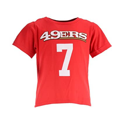 2c36097595e Image Unavailable. Image not available for. Color  Outerstuff Colin  Kaepernick San Francisco 49ers Red Youth Mainliner Jersey Name and Number T- shirt