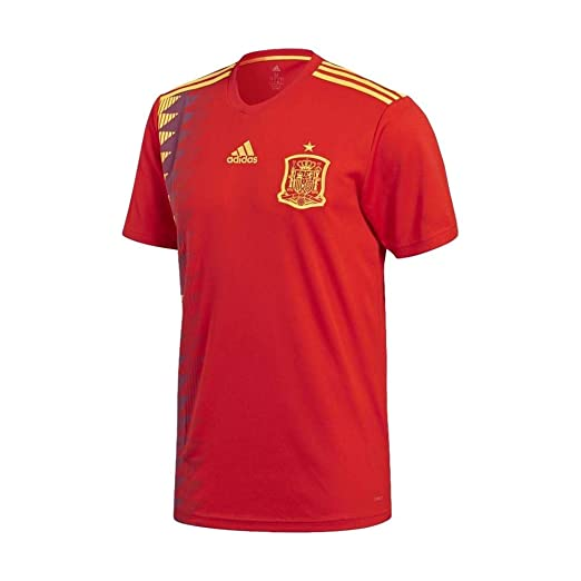 394525fff Amazon.com: adidas Mens 2018 Spain Home Jersey: Sports & Outdoors