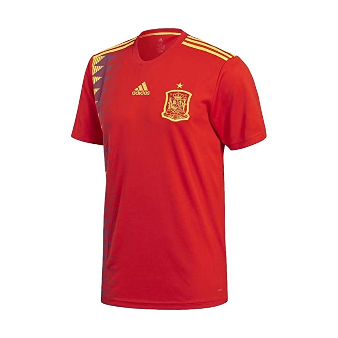 649148ddac8 Amazon.com  adidas Mens 2018 Spain Home Jersey  Sports   Outdoors