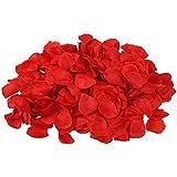 Pétales de roses env. 500 Pétales de Roses en Tissus couleur rouge