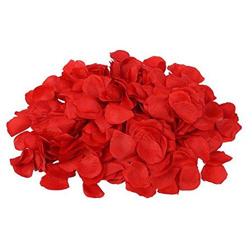 S/O® 500er Pack Rosenblätter Rosenblüten Rot Rosen Blätter Blüten Kunstblumen Seidenblumen Schramm