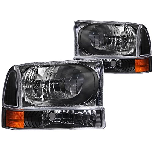 Anzo USA 111080 Ford Black with Corner Amber Headlight Assembly - (Sold in (Anzo Usa Headlight Assembly)