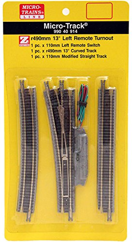 Micro-Trains MTL Z-Scale Micro-Track - LH Left Hand 13° Remote Turnout (Lh Remote Switch Track)