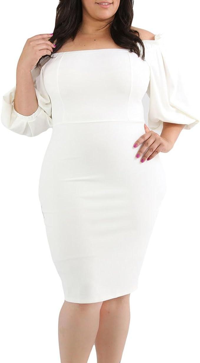 Floerns Womens Plus Size High Waist Lace Wrap Maxi Cocktail Party Dress