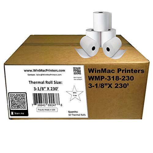 WinMac Printer's 3-1/8 x 230 Thermal Receipt Paper for POS Cash Register 50 Rolls BPA Free by WinMac Printers (Image #4)