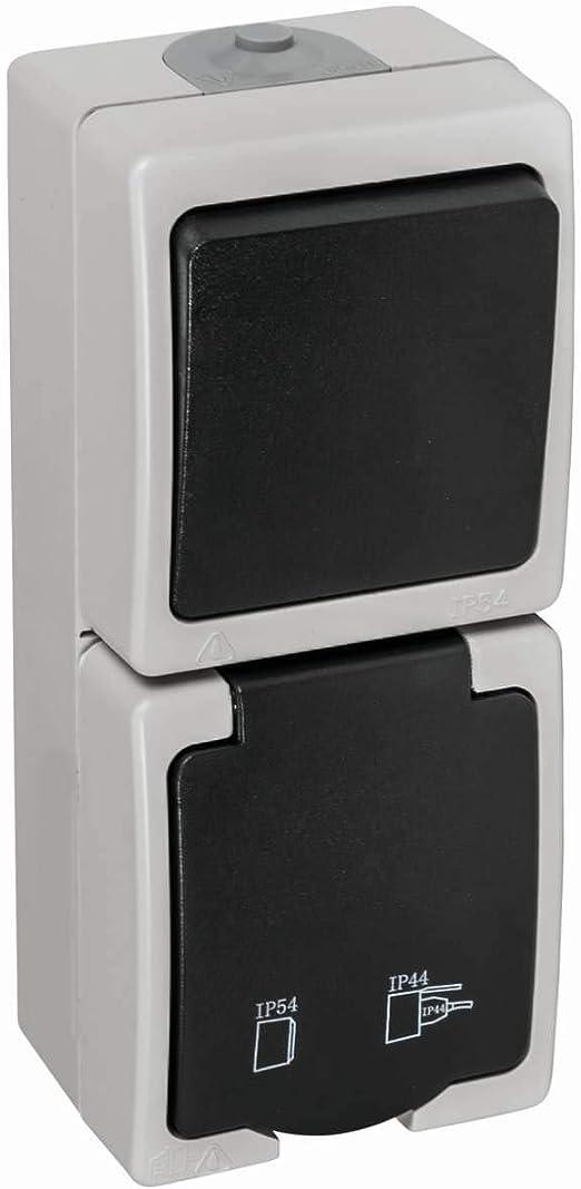 Feuchtraum-Aufputz-Schalter mit Kontrollampe rot IP54 10A