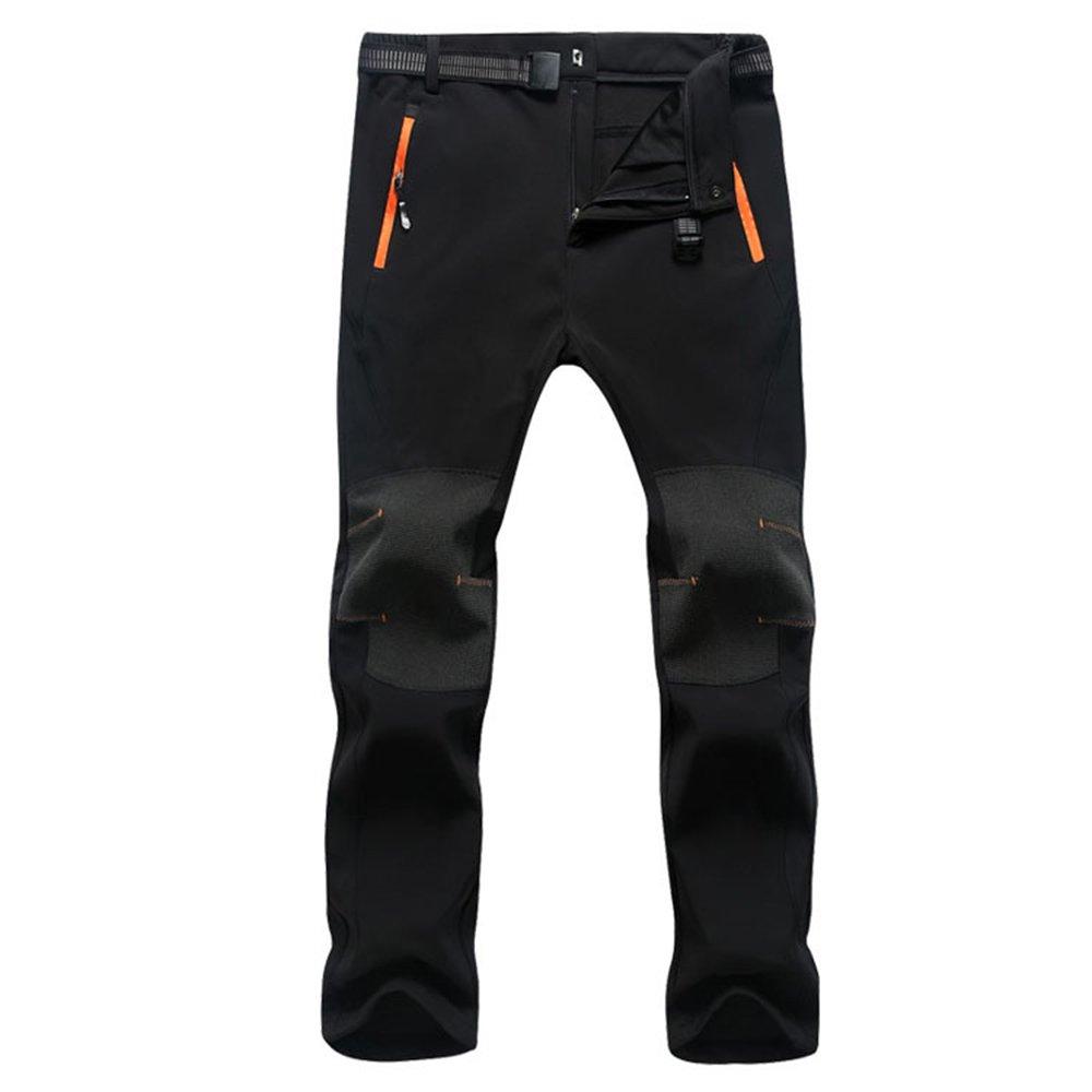 Oweisong Men Water Resistant Hiking Cargo Pants Outdoors Sports Hiking Mountain Skin Trousers OWA1644-BKM-XXL