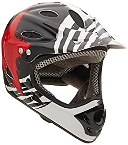 Kali Protectives Durgana Tam Helmet, X-Small, Black/Red