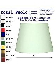 Paralume tronco cono moderno in tessuto e PVC - produzione propria - made in Italy