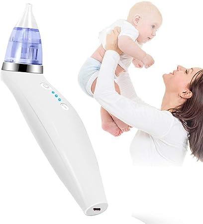 CSFM-Care Aspirador Nasal bebé Limpiador Nariz eléctrico Sucker de mocos de Nariz con música, Potencia succión Ajustable 3 velocidades, Rápidamente Seguridad para la Salud, Blanco: Amazon.es: Hogar