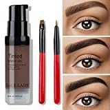 SACE LADY Waterproof Eyebrow Gel Corrector kit, Long Lasting Intense Henna Brow Color Pomade Cream with Eyebrow Brush,6ml/0.20Fl Oz (06.Blonde)